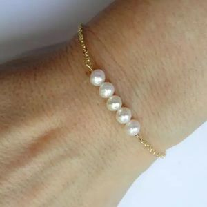 SALE Freshwater Pearl gold plated bracelet